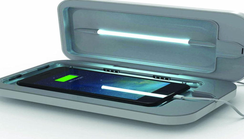 Smart phone sanitizers